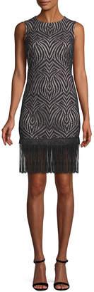 Julia Jordan Fringe Sheath Dress