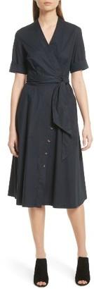 Women's Saloni Mae B Wrap Shirtdress $470 thestylecure.com