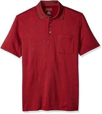Van Heusen Men's Big and Tall Flex Jacquard Stripe Polo Shirt