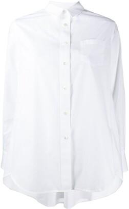 Sacai oversized long-sleeved shirt