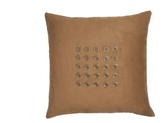 Edie At Home CENTERED GROMMETS ACCENT ON MICRO SUEDE PILLOW