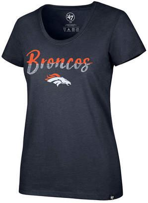 '47 Women's Denver Broncos Sparkle Dip Club Scoop T-Shirt