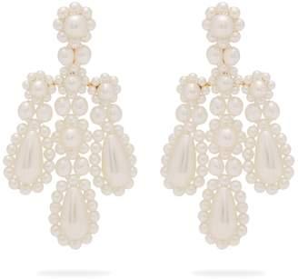 Simone Rocha Faux-pearl and metal chandelier earrings