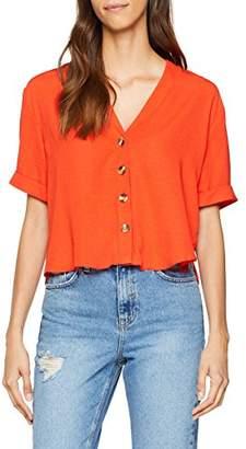 New Look Women's Peggy Button Shirt,(Manufacturer Size:12)