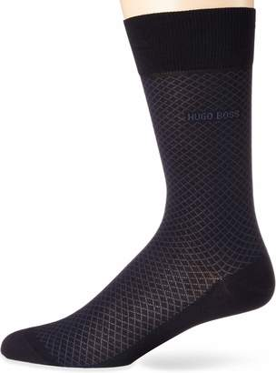 HUGO BOSS Men's Dean Mercerized Cotton Micro-Design Dress Sock