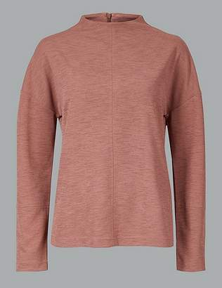 Marks and Spencer High Neck Long Sleeve T-Shirt
