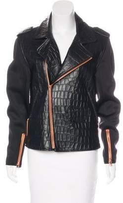Ellery Leather Embossed Jacket