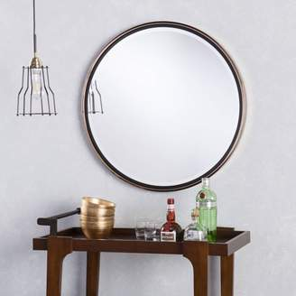 Southern Enterprises Holly and Martin Wais Round Wall Mirror, Champagne Gold