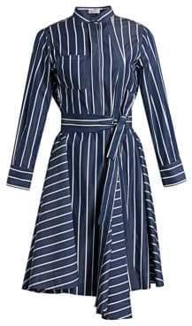 Brunello Cucinelli Striped Cotton Poplin Shirtdress
