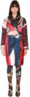 Moschino Oversized Printed Duchesse Coat