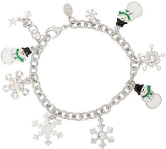 Kirks Folly Sparkling Snowmen Charm Bracelet
