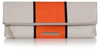 Amanda Wakeley Leather Stripe Hoffman Clutch Bag