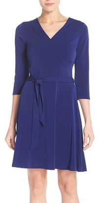 Women's Leota Jersey Faux Wrap Dress $148 thestylecure.com