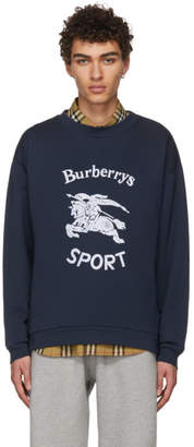Burberry Navy Sport Logo Sweatshirt