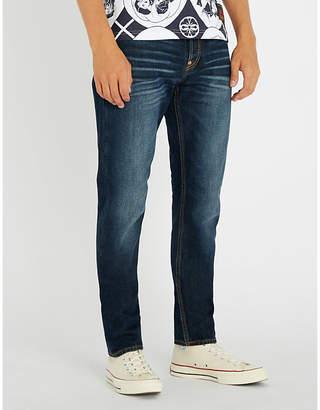 Evisu Carrot-leg brand-motto denim jeans