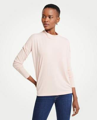 Ann Taylor Mock Neck Knit Top