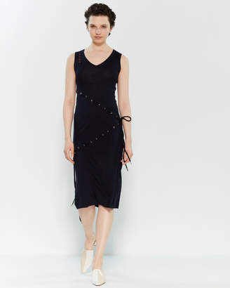 Carven Laced Knit Midi Pencil Dress