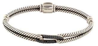David Yurman Petite Pavé Black Diamond Labyrinth Single-Loop Bracelet silver Petite Pavé Black Diamond Labyrinth Single-Loop Bracelet