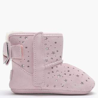 UGG Kid's Jesse Bow II Star Girl Baby Pink Suede Booties