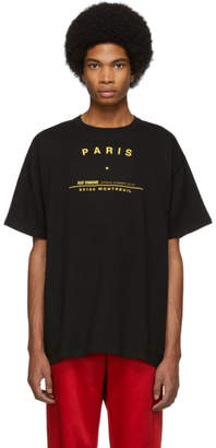 Raf Simons Black Big Fit Tour T-Shirt