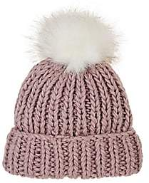 Barneys New York WOMEN'S POM-POM-EMBELLISHED WOOL-BLEND HAT