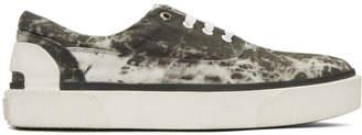Lanvin Grey Vulcanized Tie Dye Sneakers