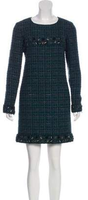 Chanel Metallic Tweed Dress