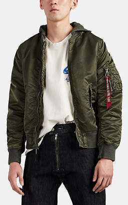 Alpha Industries Men's L-2B Washed Tech-Satin Flight Jacket - Green