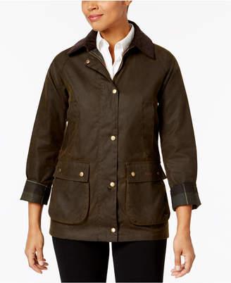 Barbour Acorn Plaid-Lined Water-Resistant Raincoat $349 thestylecure.com