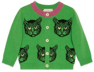 Gucci Baby Mystic Cats wool cardigan