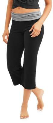 No Boundaries Juniors' Essential Straight Leg Capri Yoga Pants