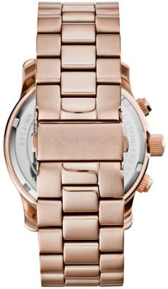 Michael Kors Watch Hunger Stop Oversized Runway Rose Gold-Tone Watch