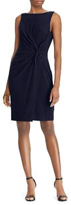 Ralph Lauren Twist-Front Sheath Dress