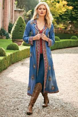 Soft Surroundings Charmayne Denim Duster