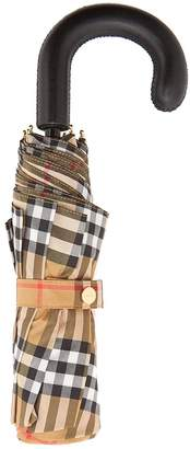 Burberry Vintage-check foldable umbrella