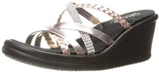 Skechers Cali Women's Rumblers-Social Butterfly Wedge Sandal