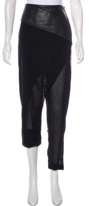 Dion Lee Silk High-Rise Pants