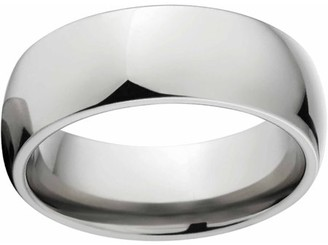 Generic Polished 8mm Titanium Wedding Band with Comfort Fit Design