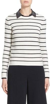 Women's Nordstrom Signature And Caroline Issa Stripe Cashmere Sweater $395 thestylecure.com