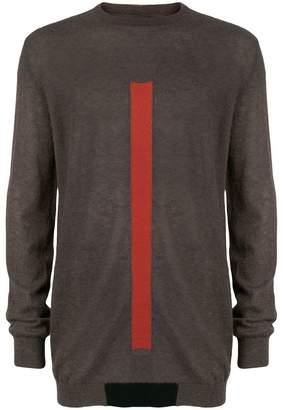 Rick Owens longline stripe front sweater