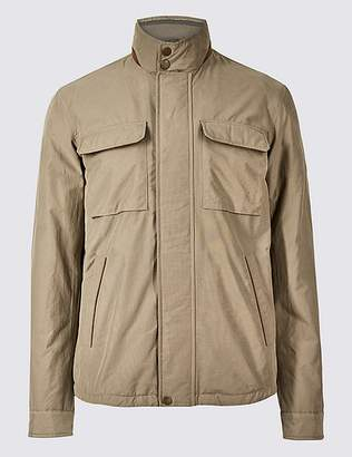 "Marks and Spencer Cotton Rich Harrington Jacket with Stormwearâ""¢"