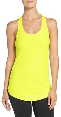 Women's New Balance 'Perfect' Cutout Racerback Tank $40 thestylecure.com
