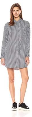 KENDALL + KYLIE Women's Stripe Lace Back Shirtdress