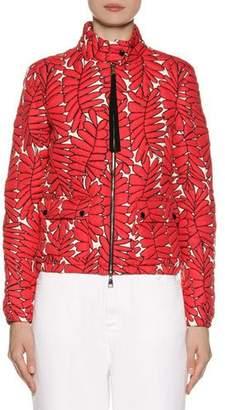 Moncler Lisbonne Leaf-Print Jacket