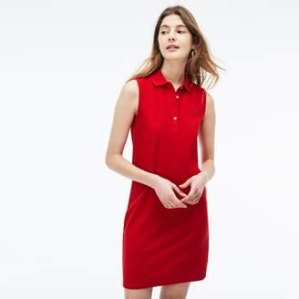 e9269281b63f53 Lacoste Women s Micro Pique Polo Dress
