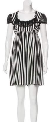 Dolce & Gabbana Striped Mini Dress