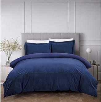 Hotel Collection California Design Den Luxury French Velvet 3-Piece Comforters, Queen Bed Comforter Sets, Full/Queen Royal Blue