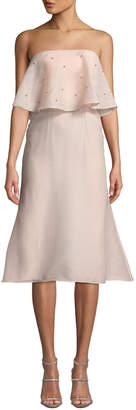 Keepsake Off-the-Shoulder Pearly Draped A-Line Dress