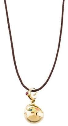 Pasquale Bruni 18K Diamond & Ruby Basket Charm Pendant Necklace