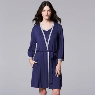 Vera Wang Women's Simply Vera Basic Luxury Wrap Robe